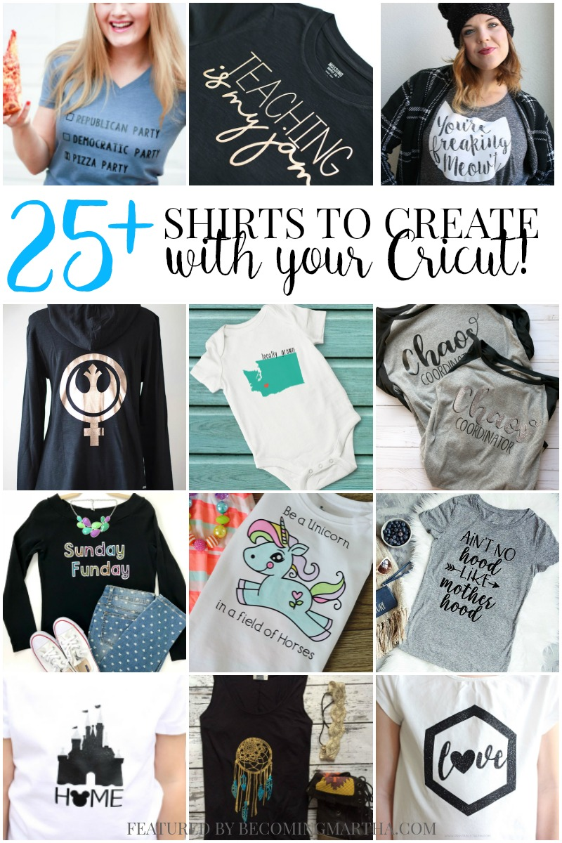 3cf8c111 25 Must Have Shirts to Make with Your Cricut Right Now