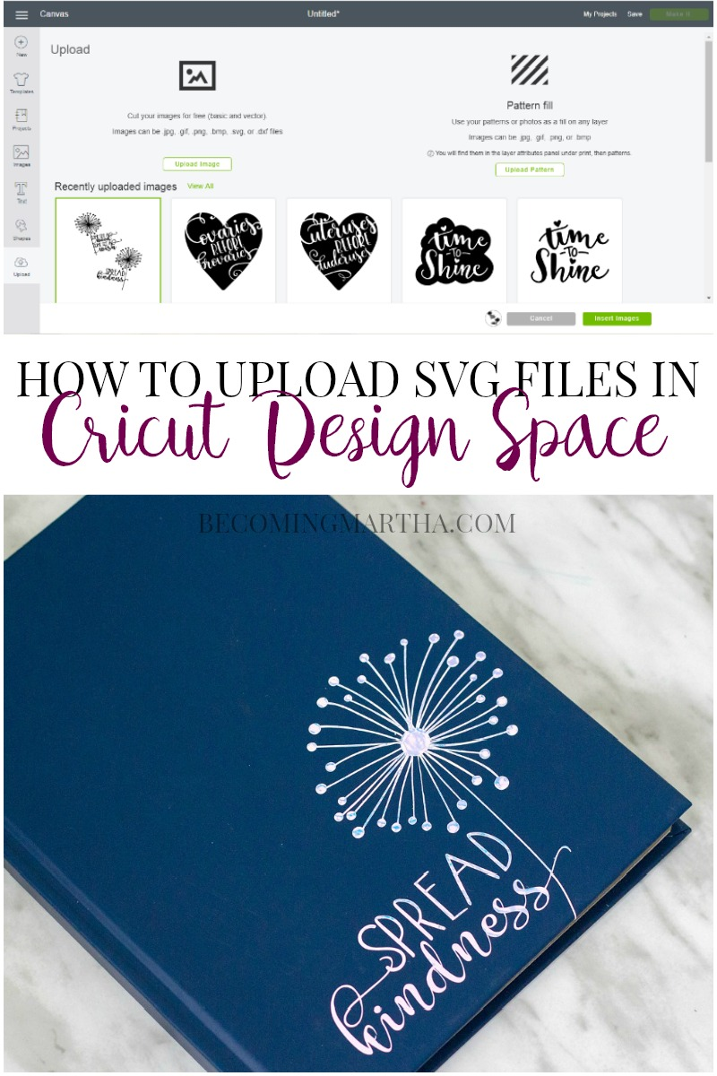 Wondering how to use SVG files with your Cricut machine? This post will show you how to upload SVG files in Cricut Design Space.