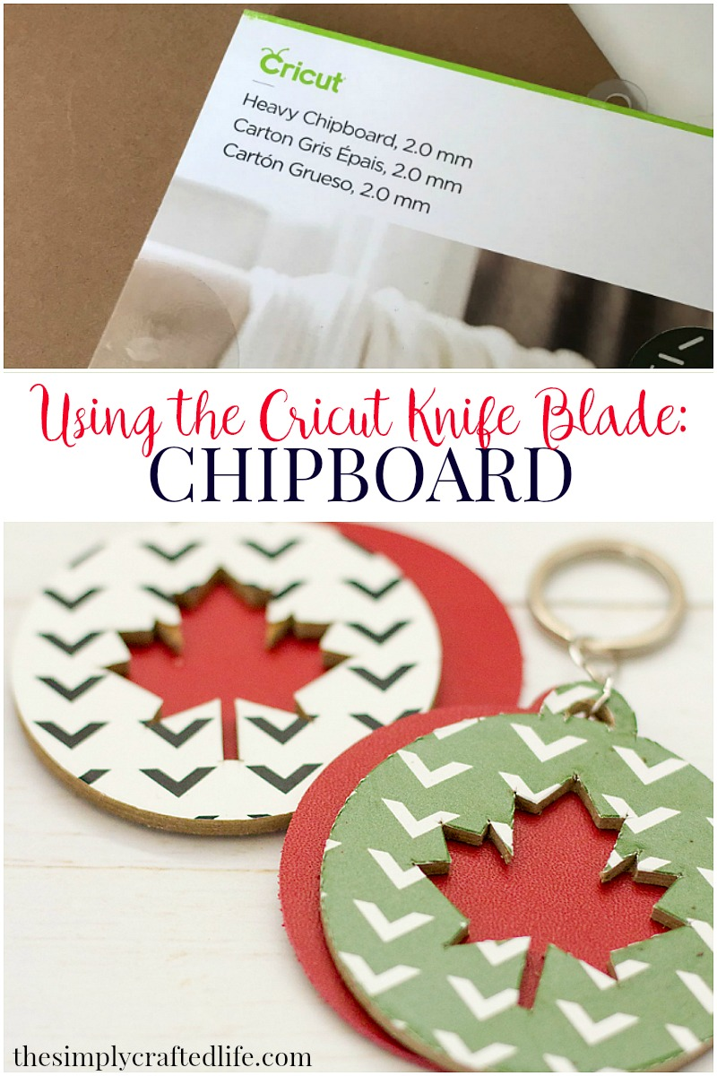 How to cut chipboard with Cricut Knife Blade and also how to use vinyl and iron