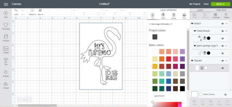 How to Draw SVGs with Cricut Pens and create these fun coloring cards with these Palm Springs inspired SVG files available in my Hungry JPEG store!