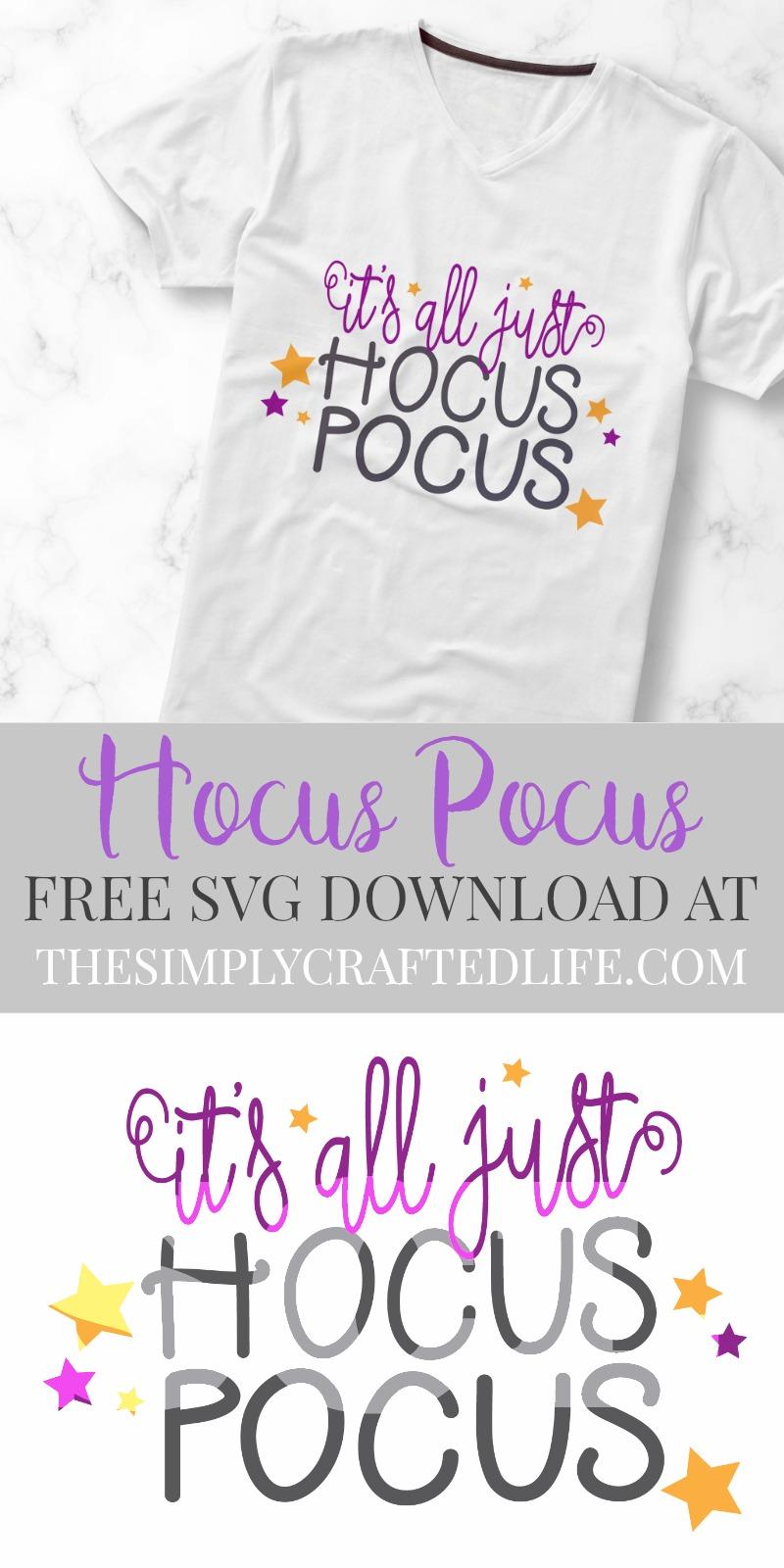 Free Hocus Pocus SVG Cut File for Cricut or Silhouette