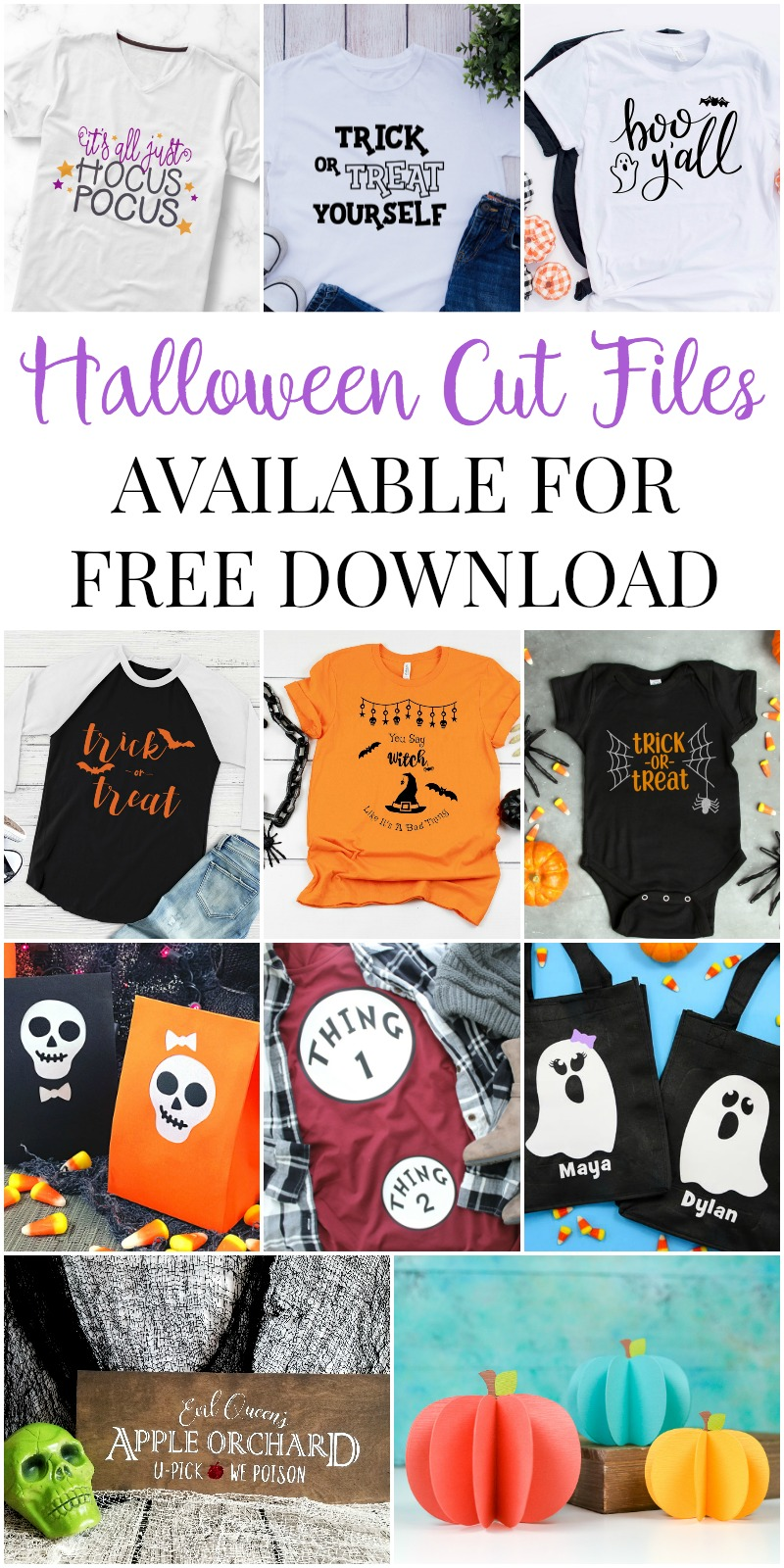 This Free Hocus Pocus SVG Cut File is great for Halloween decor or apparel, and can be used with Cricut, Silhouette, and other cutting machines!