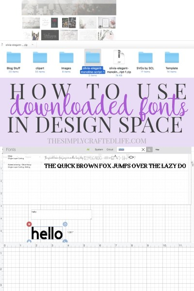 How to Use Downloaded Fonts in Design Space
