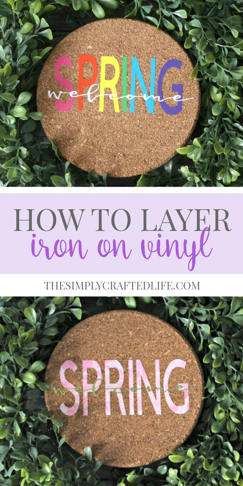 How to Layer Iron On Vinyl