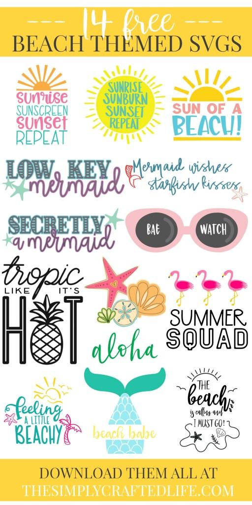 Free Beach SVGs