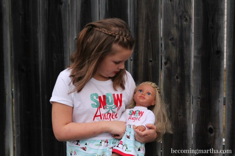 matching personalized doll pjs