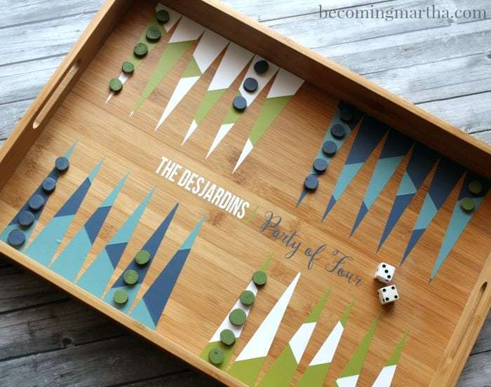 diy backgammon game personalized christmas gifts