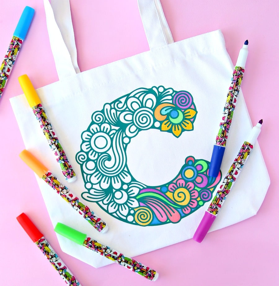 color your own gift bag personalized christmas gifts