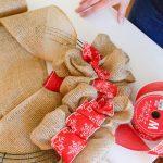 Diy Rustic Christmas Burlap Wreath The Simply Organized Home