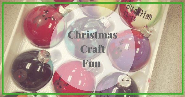 Christmas Craft. Ornaments and paint is all that is needed to create this keepsake