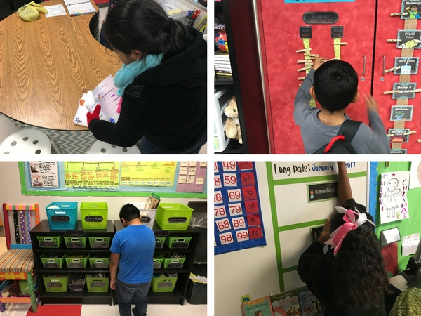 Student Routines: Students do various classroom jobs to help keep classroom organized and clean.