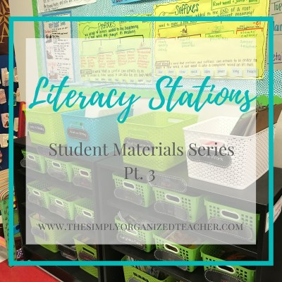 Literacy Stations: Student Materials Series Pt. 3