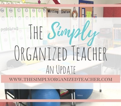 An Update for The Simply Organized Teacher
