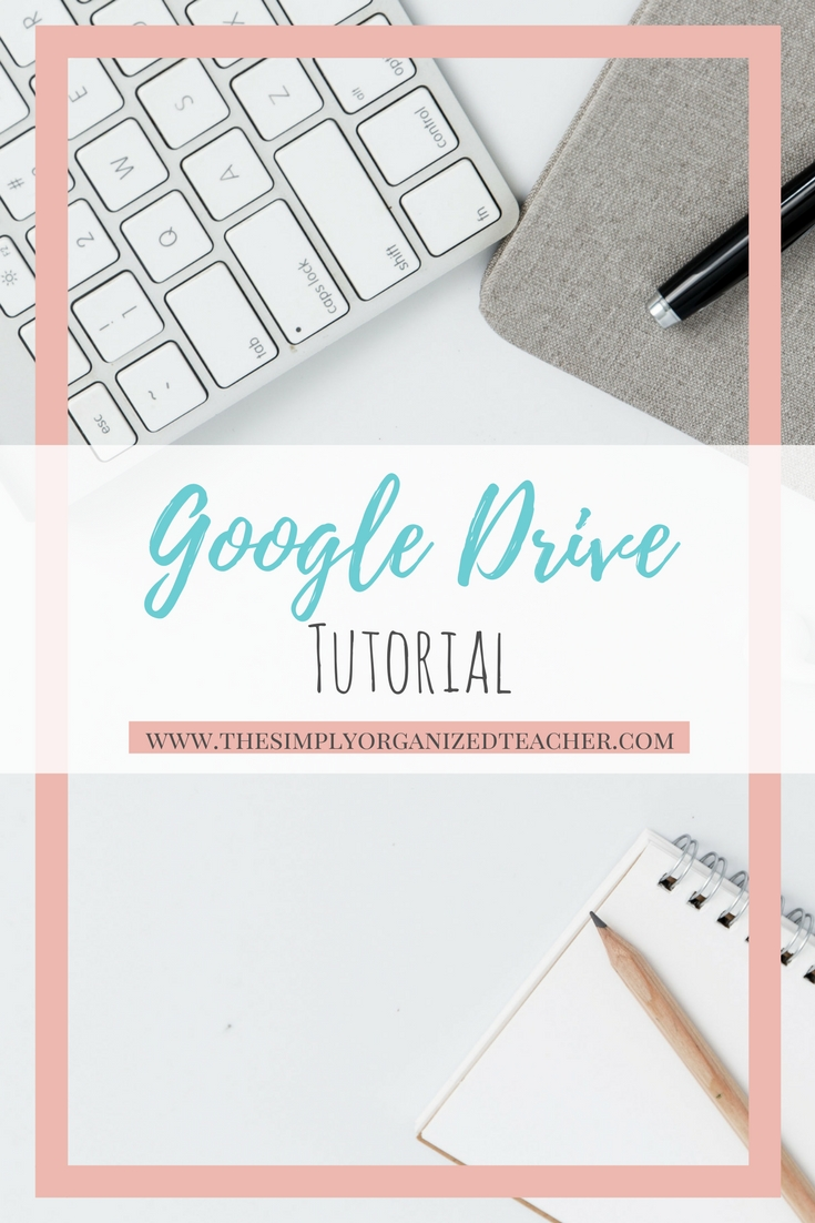 Google drive is a great resource for teachers and schools. This tutorial shows how to organize google drive effectively.