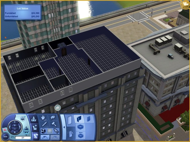 On The Left Is Apartment Where I Want Our Sim Family To Live In You Can See Started Putting Up Walls Already