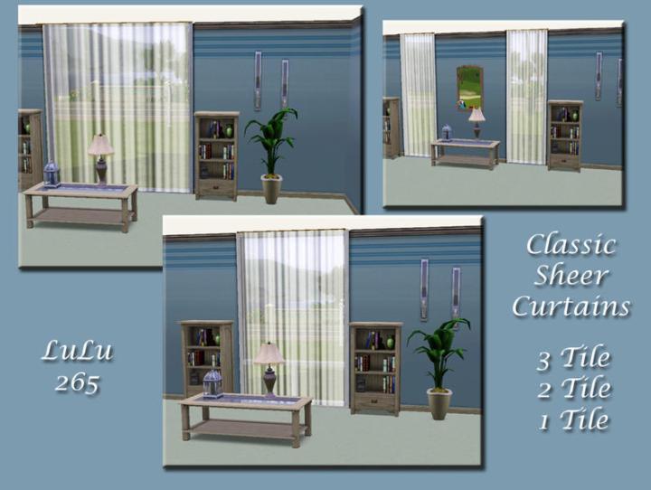 Classic Sheer Curtain Set