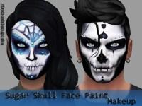 halloween face painting designs skeleton