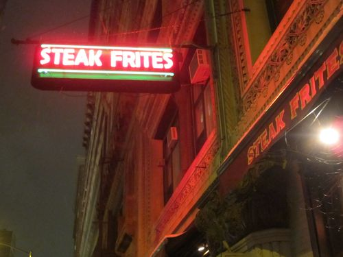 Steak Frites sign 1