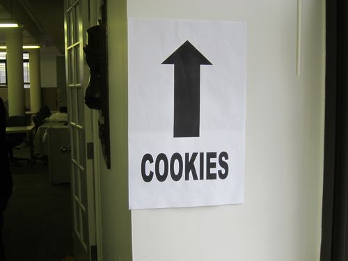 GirlScout cookies sign 2