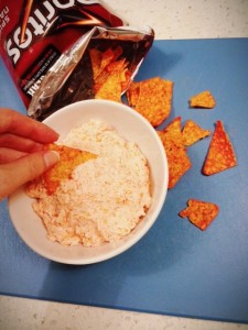 Yea I dip Doritos into Doritos cream cheese. I do what I want.
