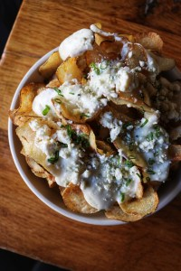 Blue Cheese Fondue potato chips the smith