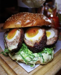 scotch egg burger jones wood foundry
