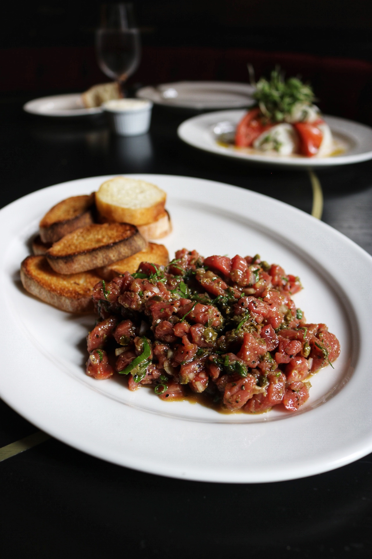 Beef Tartare (mixed) Harrys NYC