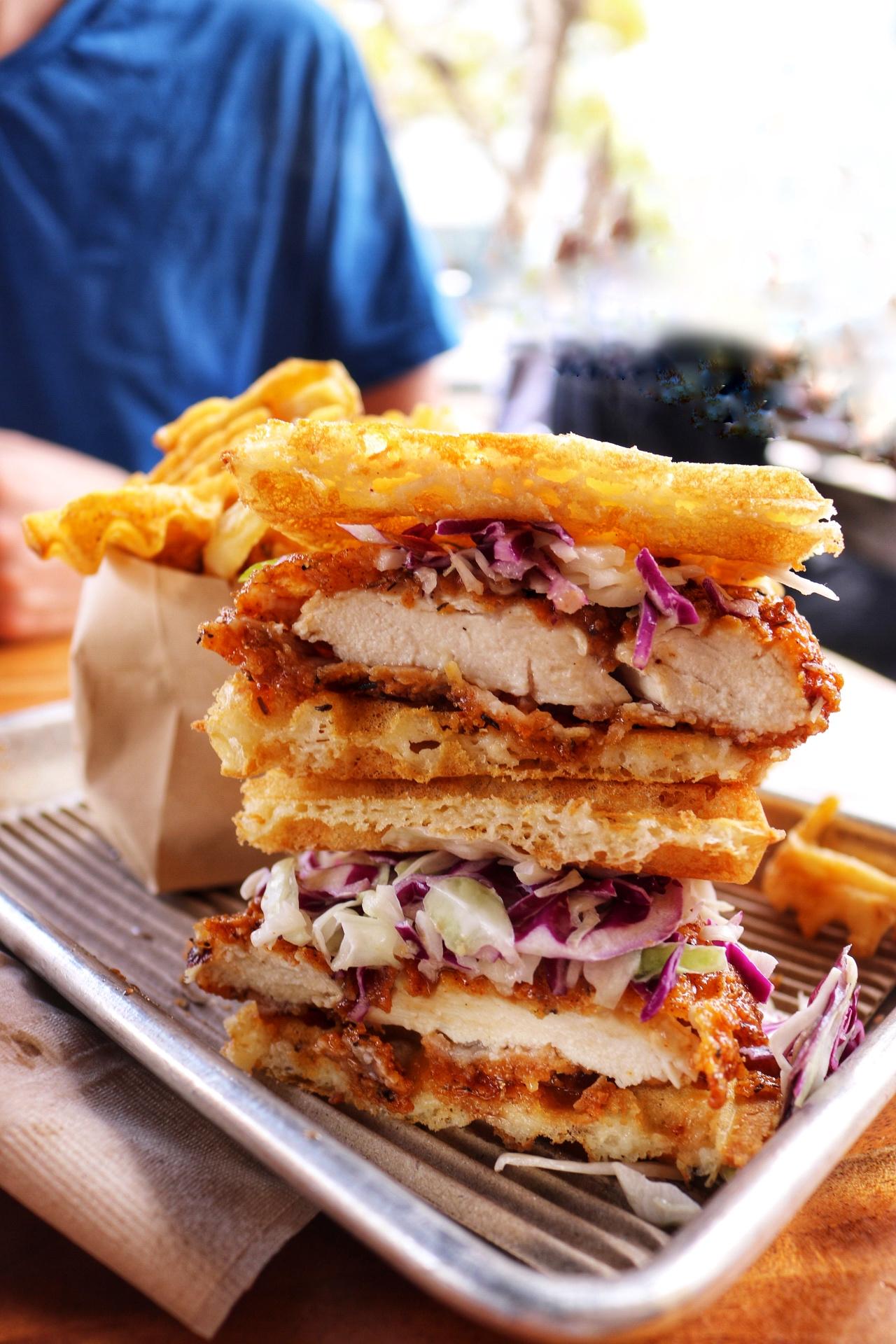 Bruxie Chicken & Waffles Sandwich