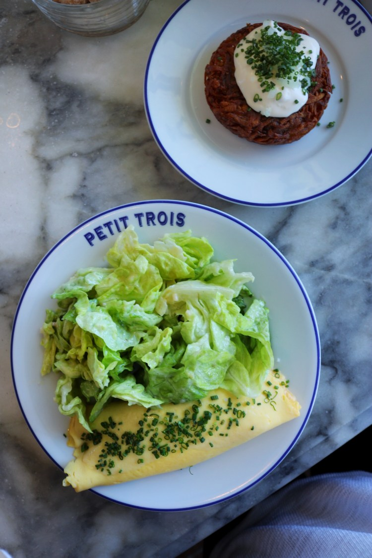 Petit Trois - Omelette and Potato Darphin