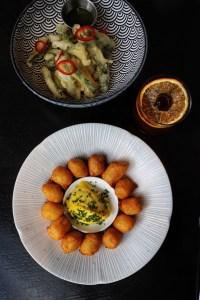 Potato Croquettes & Veggie Tempura