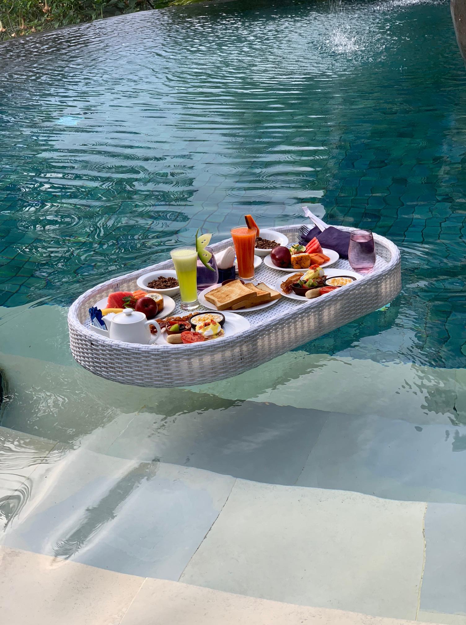 Floating Breakfast - Padma Resort Ubud