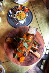 Bone-In Beef Ribs and Fried Millet