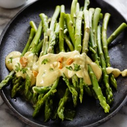 Asparagus Salad with Egg Yolk Vinaigrette