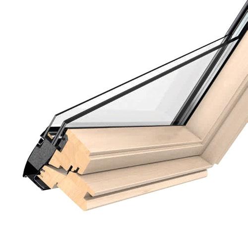 velux ggl 3060 pine easy clean noise reduction centre pivot skylight window