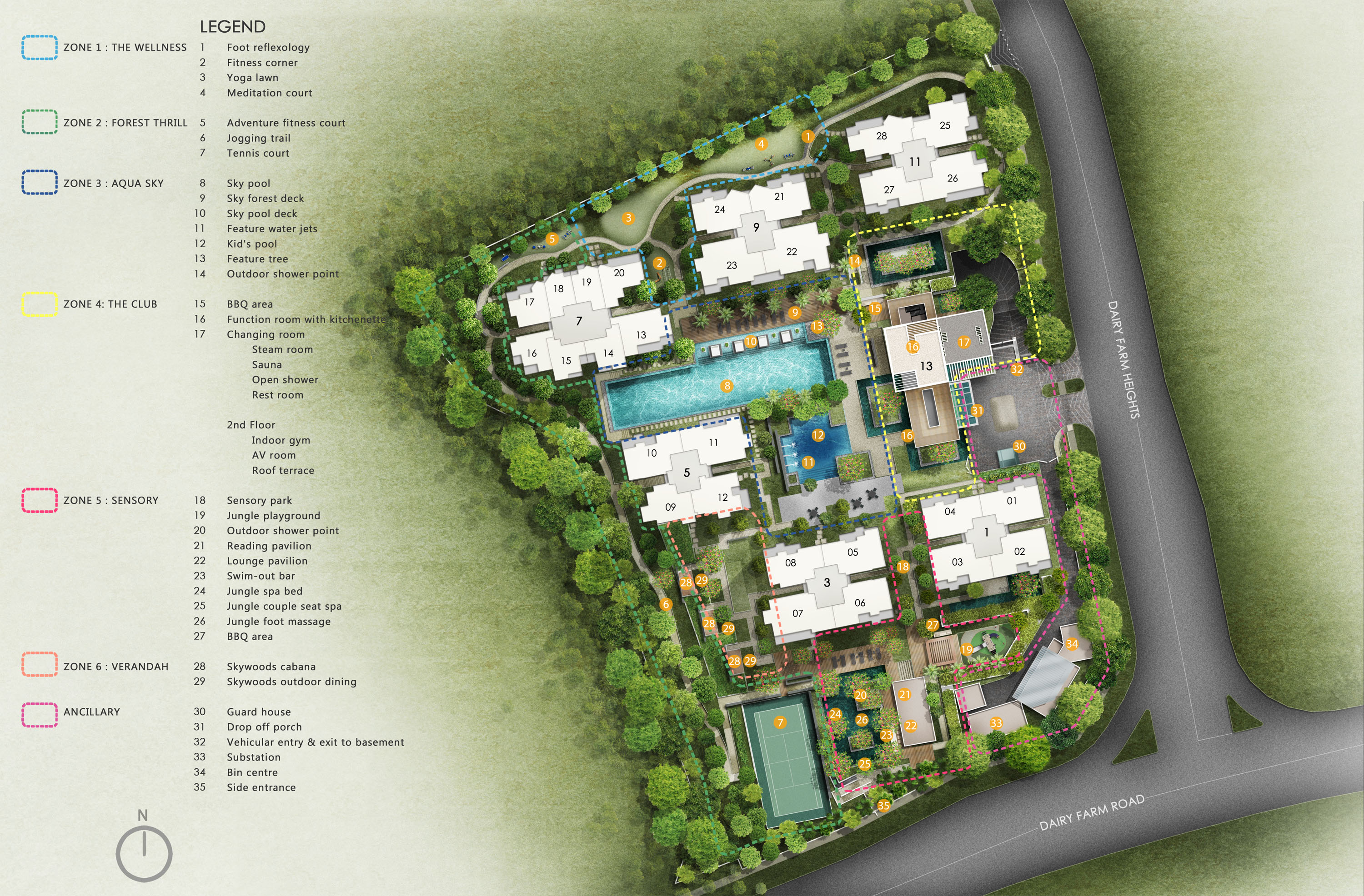 The Skywoods Site Map
