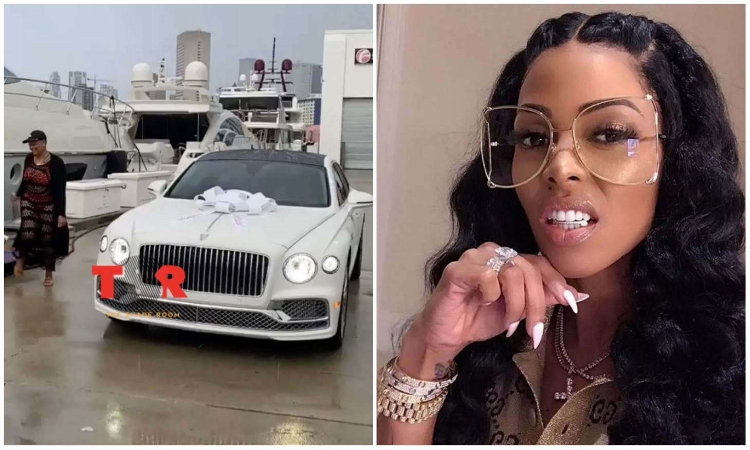 Rapper Gucci Mane's wife Keyshia Ka'oir surprise mum with customized Bentley for her 60th birthday (Video)