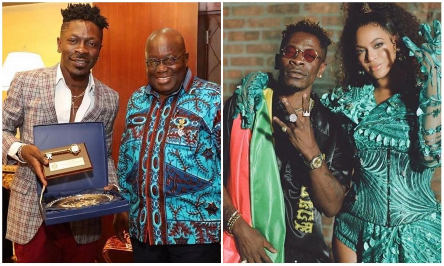 Ghanaian President celebrates Shatta Wale on his collaboration with Beyoncé (Photos)