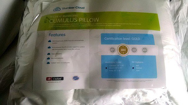 slumbercloud cirrus medium pillow