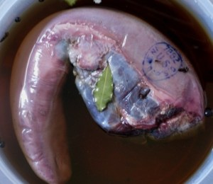 Whole beef tongue in its brine