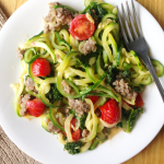 Cajun Zucchini Noodle Pasta / The Small Town Foodie