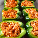 Buffalo Chicken Stuffed Peppers | The Small Town Foodie