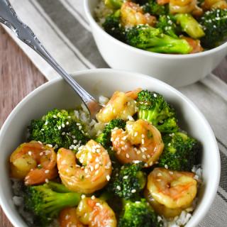 Teriyaki Shrimp and Broccoli