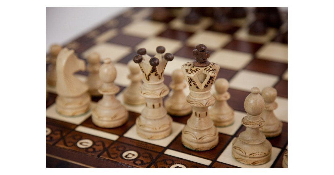 Ambassador High Detail European Wooden Handmade Chess Set Gold Pick