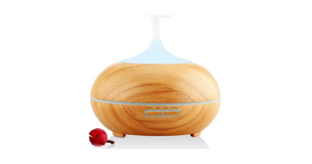 URPOWER 300ml Aroma Essential Oil Diffuser Gold Pick