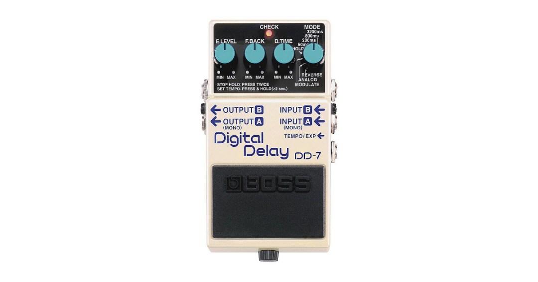 Boss DD-7 Digital Delay Pedal Gold Pick