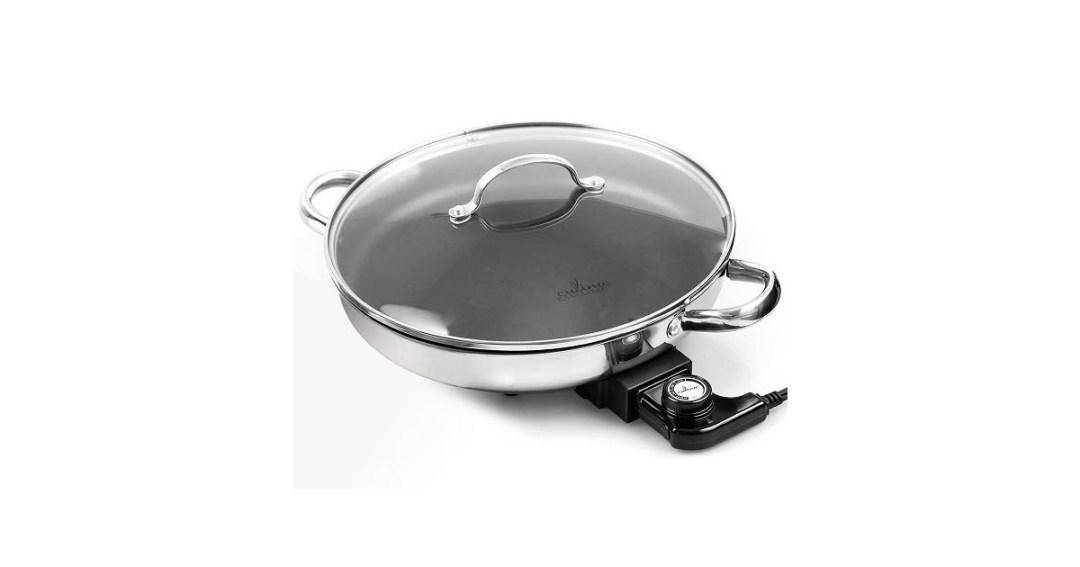 Culina 18/10 Stainless Steel Nonstick Interior Electric Skillet