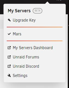 Unraid server authenticated