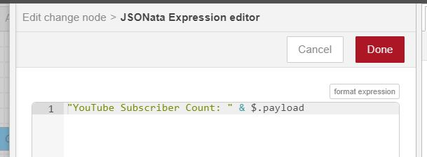 simple subscriber json