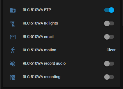 IR light toggle in Home-Assistant