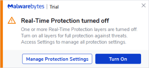 Malware Bytes End oF Trial